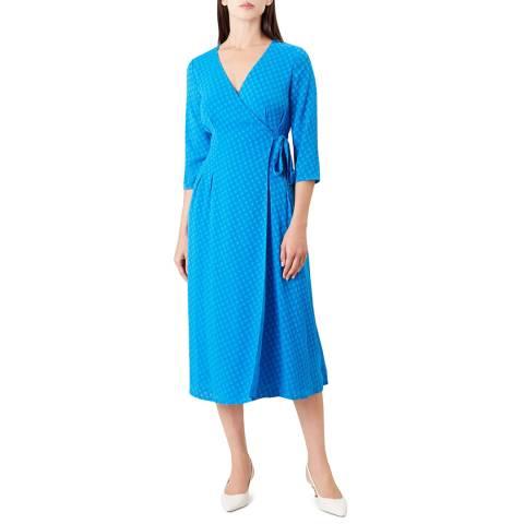Hobbs London Blue Cassie Wrap Dress