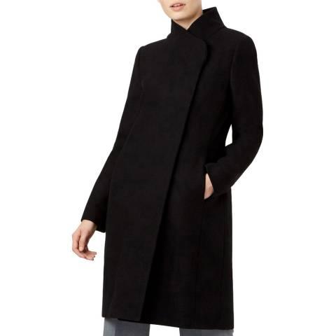 Hobbs London Black Romy Wool Blend Coat