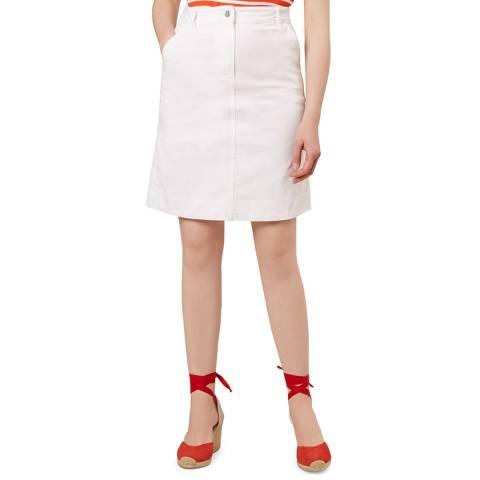 Hobbs London White Bronte Skirt