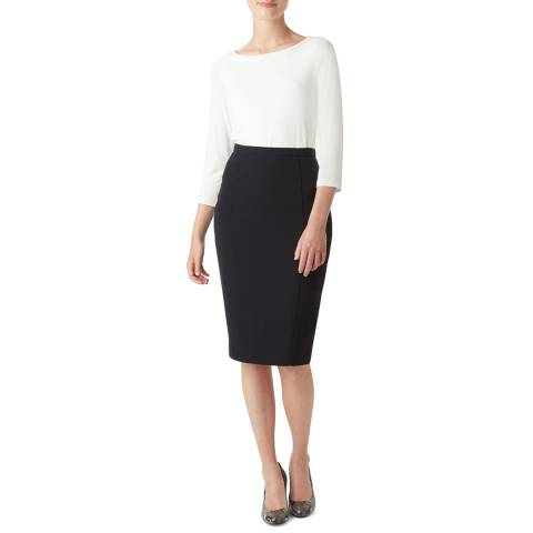 Hobbs London Navy Mina Skirt