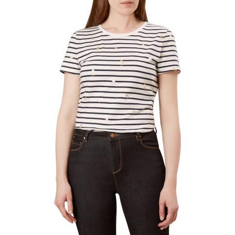 Hobbs London Navy Stripe Pixie T-Shirt