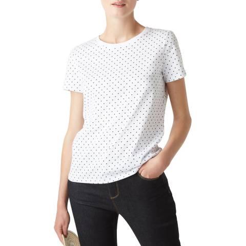 Hobbs London Ivory Dot Print Pixie T-Shirt
