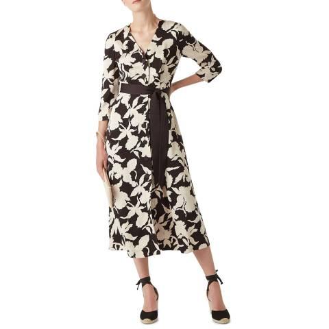 Hobbs London Black Floral Sandra Dress