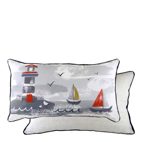 Evans Lichfield Nautical Lighthouse Filled Cushion, 30x50cm
