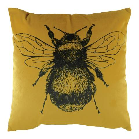 Evans Lichfield Gold Bee Filled Cushion 43x43cm