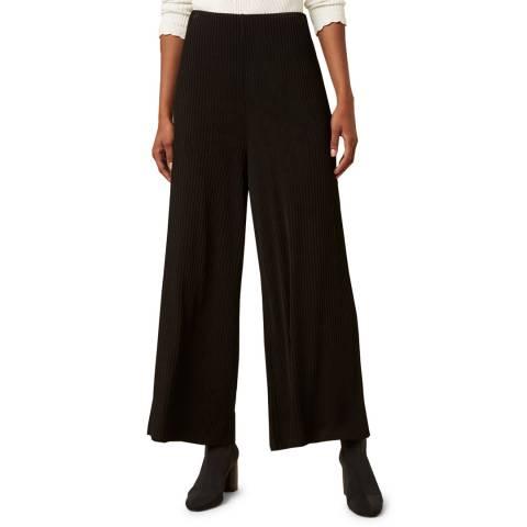 Great Plains Black Adelaide Jersey Wide Leg Trouser
