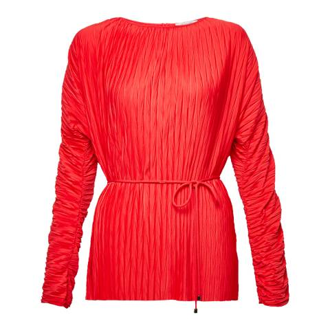Great Plains Lipstick Red Long Sleeve Top