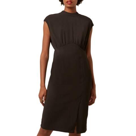 Great Plains Black Margot Sleeveless High Neck Dress
