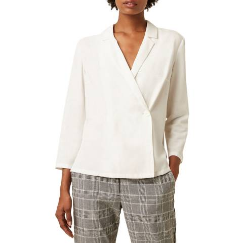 Great Plains Milk Everyday Luxe Wrap Shirt