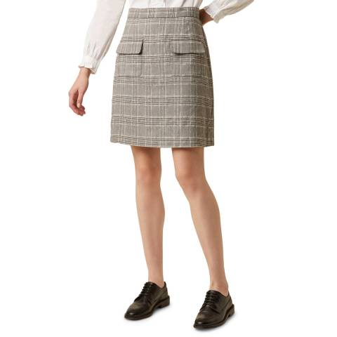 Great Plains Black Paradis Check Pocket Skirt