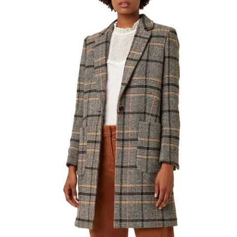 Great Plains Black Charlize Check Coat