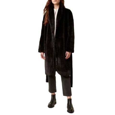 Great Plains Black Audley Faux Fur Coat