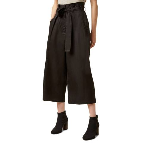 Great Plains Black Beau Belt Wide Leg Trouser