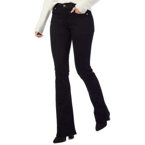 7 For All Mankind Black Bootcut Stretch Jeans