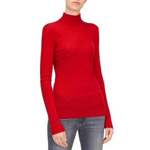 7 For All Mankind Red Cashmere/Silk Jumper