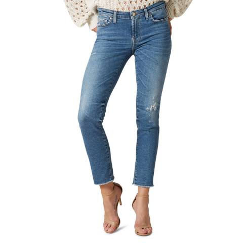 7 For All Mankind Light Blue Pyper Skinny Stretch Jeans