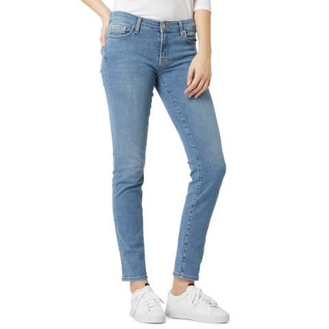 7 For All Mankind Light Blue Pyper Slim Stretch Jeans