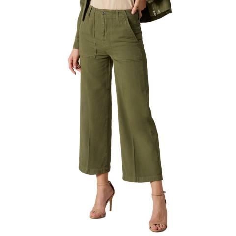 7 For All Mankind Khaki Alexa Wide Stretch Twill Jeans