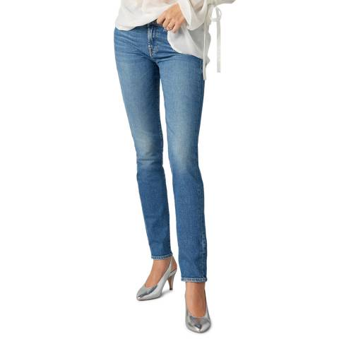 7 For All Mankind Blue Roxanne Slim Stretch Jeans
