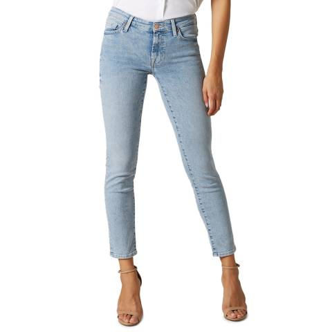 7 For All Mankind Light Blue Pyper Illusion Skinny Stretch Jeans