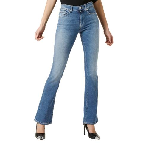 7 For All Mankind Mid Blue Vintage Bootcut Stretch Jeans