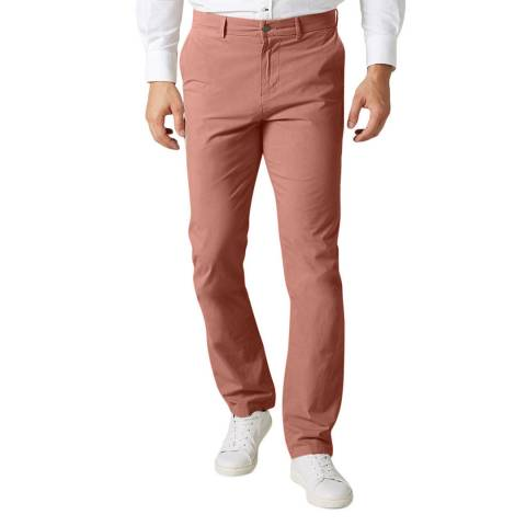 7 For All Mankind Soft Red Slimmy Stretch Chinos