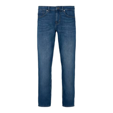 7 For All Mankind Dark Blue Kayden Slim Stretch Jeans