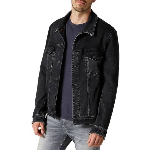 7 For All Mankind Black Perfect Stretch Denim Jacket