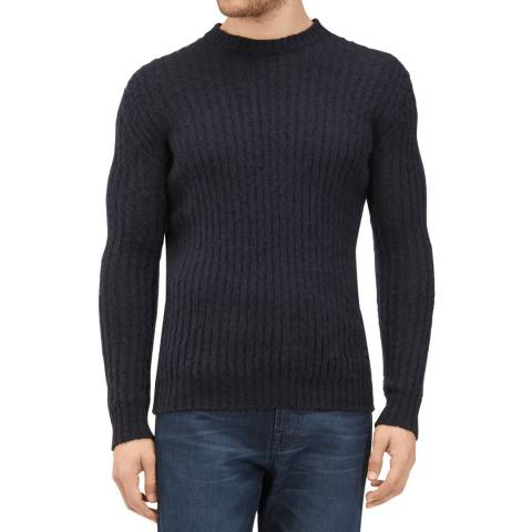 7 For All Mankind Midnight Cashmere/Wool/Silk Jumper