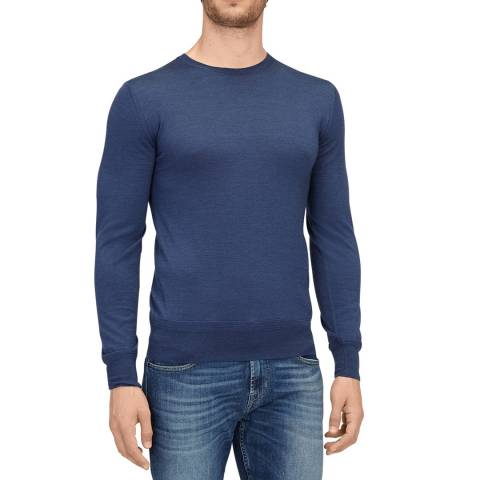 7 For All Mankind Blue Cashmere/Wool/Silk Jumper