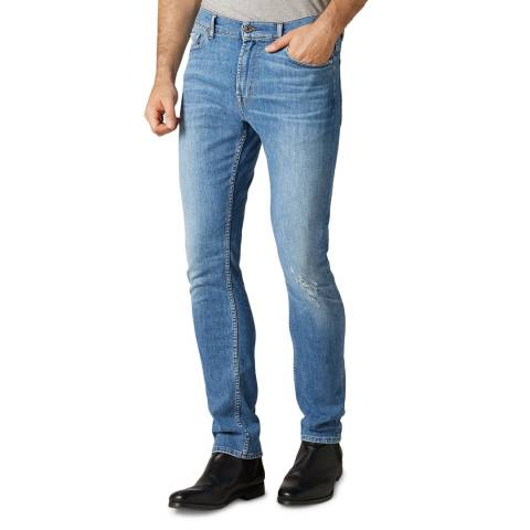 7 For All Mankind Light Blue Ronnie Slim Stretch Jeans