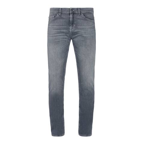 7 For All Mankind Grey Ronnie Slim Stretch Jeans