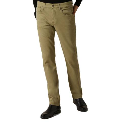 7 For All Mankind Khaki Slimmy Luxe Cotton Stretch Jeans