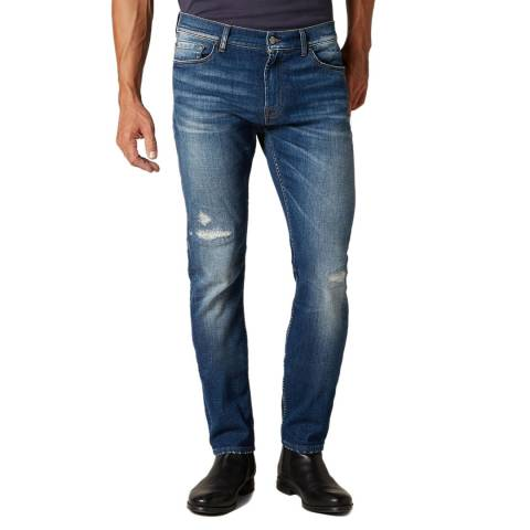 7 For All Mankind Blue Ronnie Slim Stretch Jeans