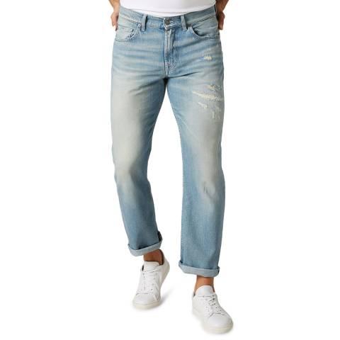 7 For All Mankind Light Blue Slimmy Cotton Blend Jeans
