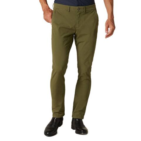 7 For All Mankind Dark Khaki Ronnie Tapered Stretch Chinos