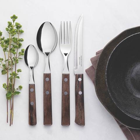 Tramontina Polywood 24 Piece Cutlery Set