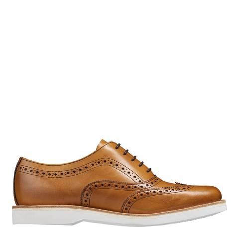 Barker Brown Leather Josie Brogues