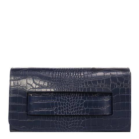 SCUI Studios Blue Leather Clutch Bag