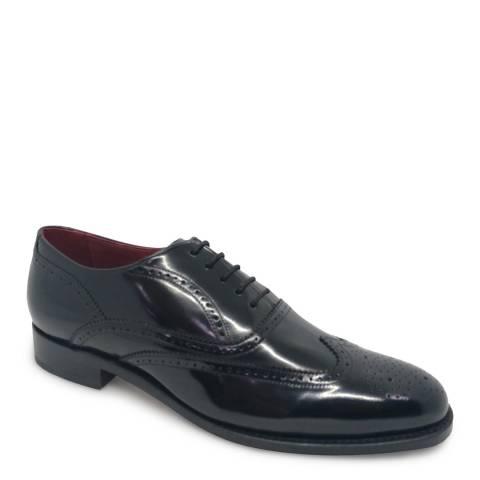 Barker Black Hi-Shine Oxford Shoe