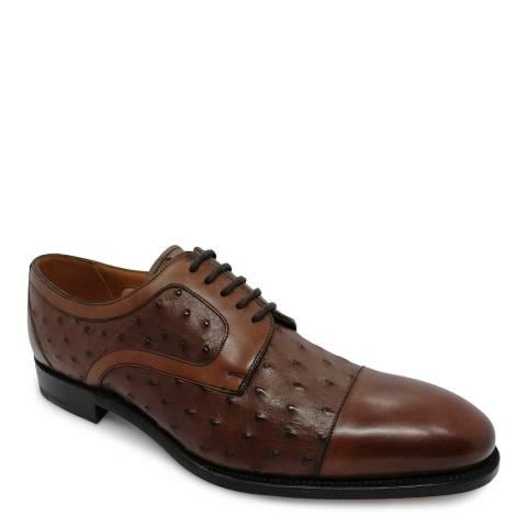 Barker Brown Calf/Ostrich Bach Oxford Shoe