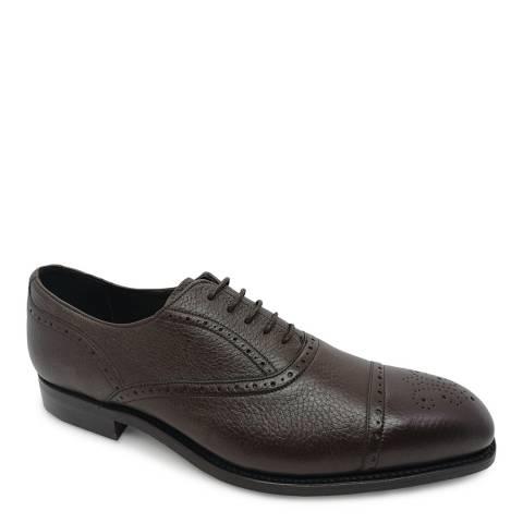 Barker Dark Brown Deerskin Newent Derby Shoe