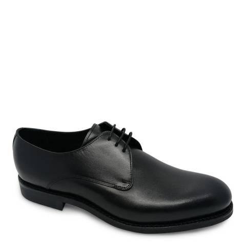 Barker Black Calf Plain Derby Shoe