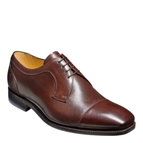 Barker Dark Brown Leather Paignton Derby Shoe