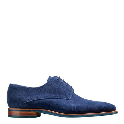Barker Navy Suede Max Derby Shoe