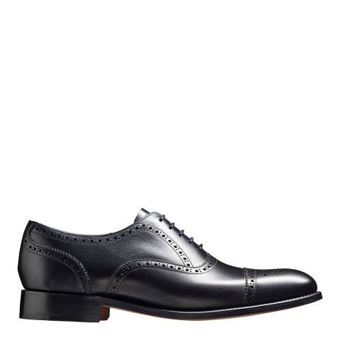 Barker Black Leather Mirfield Oxford Semi Brogue