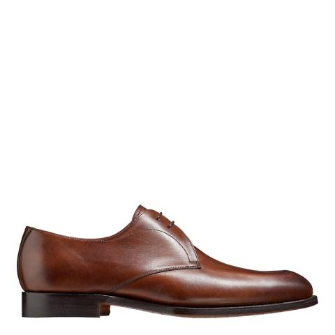 Barker Brown Leather Purley Derby Shoe