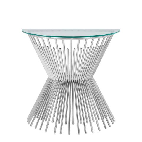 Serene Furnishings Trinity Silver Console Table