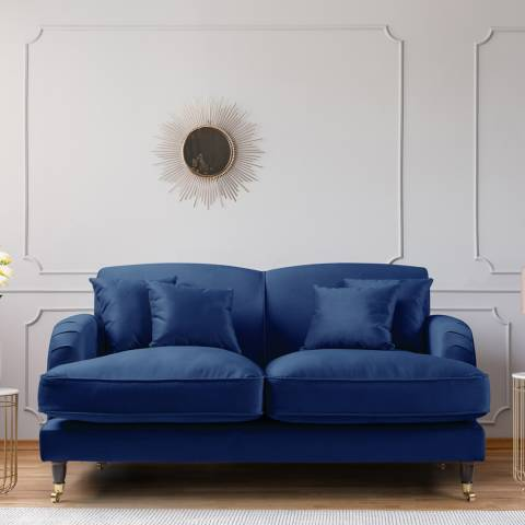 The Great Sofa Company The Piper 2 Seater Sofa, Velvet Navy