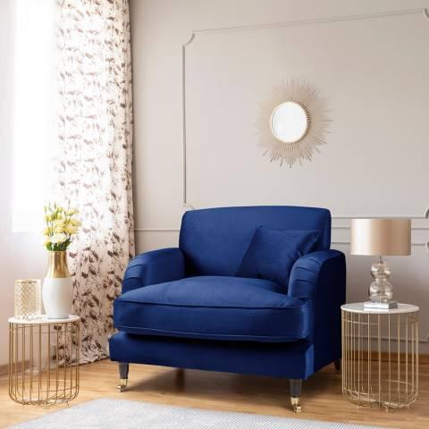 The Great Sofa Company The Piper Armchair, Velvet Navy